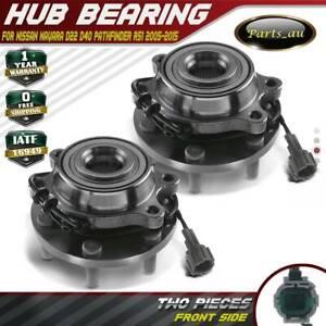2x Front L+R Wheel Bearing Hubs w/ ABS for Nissan Navara D22 D40 Pathfinder R51