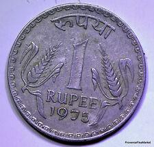 Inde, 1 RUPEE  1975 INDE , LIONS aca724
