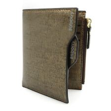 Mens Genuine Soft Leather Wallet RFID bloc ID Credit Card Holder Zip Coin Purse