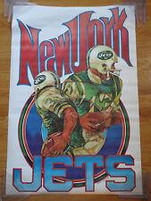 1970 NATIONAL FOOTBALL LEAGUE Poster NEW YORK JETS (1960) JOE NAMATH