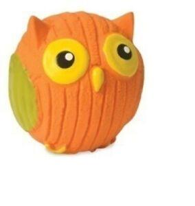 "Dog Toy Hugglehounds - Poppy the Owl - Ruff-Tex  Mini Size 2.25"" Diameter"