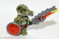 ORIGINAL Lego Legends of CHIMA BATTLE mini figure CROCODILE SOLDIER shield 70231