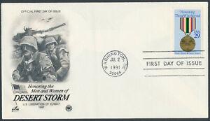 USA 2551 on Artcraft FDC - Medal, Operation Desert Storm