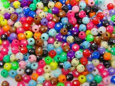 400 Pcs 4mm Mix Acrylic Round Disco Rhinestone Spacer Beads Craft Beading J195