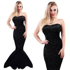 Black Fairytale Sea Mermaid Beauty Teen Girls Ladies Fancy Dress Costume