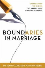 Boundaries in Marriage by John Sims Townsend, Cloud and Henry Cloud (1999, Hardc