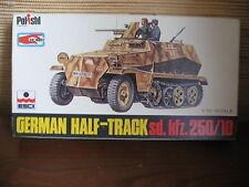 MAQUETTE 1/72 VINTAGE  GERMAN HALF TRACK SD KFZ 250/10  ESCI WWII MILITAIRE