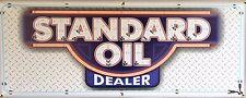 STANDARD OIL DEALER GAS STATION NEON STYLE BANNER GARAGE ART SIGN MURAL 2' X 5'
