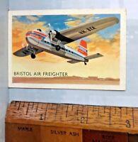 1960s ANSETT-ANA BRISTOL AIR FREIGHTER CARGO PLANE AUSTRALIAN TRADING CARD EXC!!