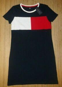 NWT Womens Tommy Hilfiger S/S T-Shirt Dress~Navy~SZ LRG