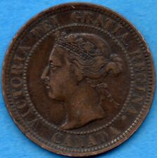 Canada 1892 1 Cent One Large Cent Coin - VF/EF
