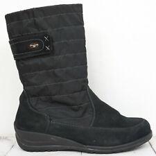 WALDLÄUFER Tex 💕 Damen Stiefel Gr. 41 ( 7,5 ) Schwarz Boots Woman Schuhe
