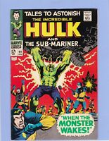 Tales To Astonish #99 Marvel 1968 Silver Age Comic VF-/VF Sub-Mariner Hulk