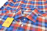 NWT ETRO Shirt Sz 44 Made in Italy Blue Red Plaid Dress Casual New