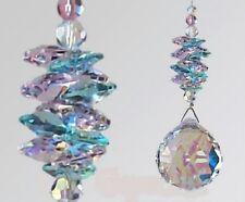 40mm Crystal AB Ball Suncatcher made with 100 Swarovski Crystals
