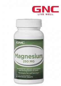 GNC Magnesium 90 Vegetarian Capsules 250mg