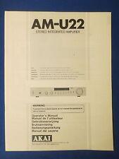Akai AM-U22 user manual