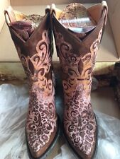 OLD GRINGO RARE Linda Lou Leopardito Distressed Pink Brass Cowgirl GYPSY  8B