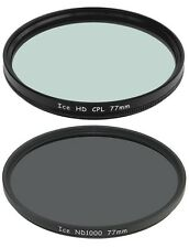 ICE 77mm Filter Set ND1000 & CPL Neutral Density ND 1000 77 10Stop Optical Glass