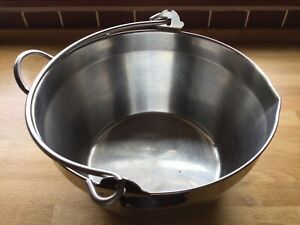 Large Stainless Steel Jam Preserving Pan - JUDGE 31cm (15 litres) Suits All Hobs