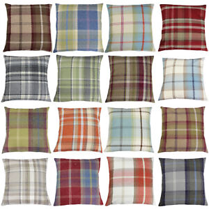 Balmoral Check Plaid Tweed Fryetts Fabric Country Cushion Cover