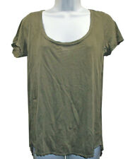 NEW Michael Stars Green Cotton Top One Size Scoop Neck