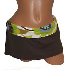 NEW Swim Skirt L Large 12 Brown Skirted Bikini Bottom Banded La Blanca $68 B12
