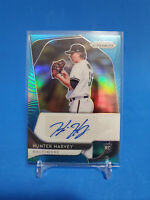 2020 Panini Prizm Baseball Hunter Harvey Blue Wave Prizm RC AUTO 29/50 Orioles