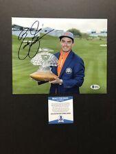 Rickie Fowler autographed signed 8x10 photo Beckett BAS COA Golf PGA Tour Puma
