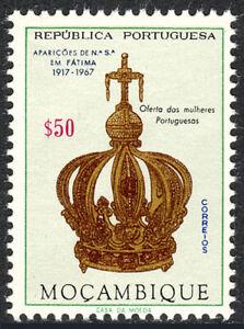 Mozambique 480, MNH Virgin's Couronne, Presenté Par Portugais Femme, 1967