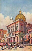 NAPLES~CHURCH OF S CROCE~TUCK WORLD WIDE SERIES OILETTE POSTCARD