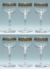 Antikglas Sammlung Hier 3 Alte Jugendstil Weingläser Grünstengel Mundgeblasen Facettiert Höhe 18 Cm Glas & Kristall