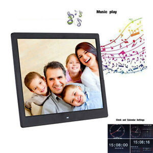 "7-15"" Digital Photo Frame LED Electronic Album Picture Player W/Remote MP3 Music"