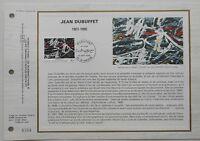 Feuillet CEF 784 1er jour 1985 Jean Dubuffet Peintre