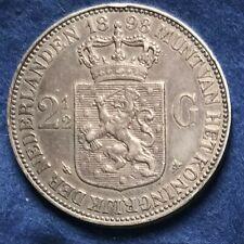 Niederlande 2 1/2 Gulden 1898 - Silber Wilhelmina - selten!