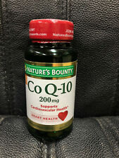 Co Q-10 45's 200mg EXP 8/20 Nature's Bounty Heart Health vitamins SoftGels COQ10