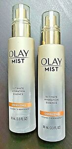 2x Olay Mist Ultimate Hydration Essence Energizing Vitamin C & Bergamot 3.3oz