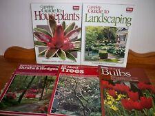Lot of 5 Ortho Gardening Books-Trees, Bulbs, Shrubs, Houseplants, Landscaping
