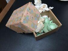 15 Pc Occupied Japan Partial Child's Tea Set Celadon Green
