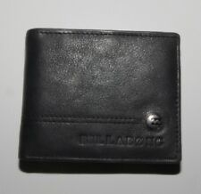 New : Billabong Black Leather Wallet - Medium, Style 2