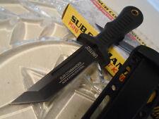 Lot de 3 Couteaux United Cutlery Sub Commander Black Tanto Acier AUS-6 UC3120