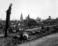 New 8x10 World War II Photo: Devastation of War in Heilbronn, Germany