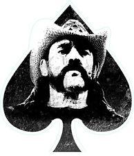Lemmy of Motorhead contoured Self Cling vinyl sticker window 155x130mm