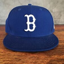 New Era 59FIFTY Boston Red Sox MLB Blue Baseball Cap Fitted 5950 Hat Size 7 3/8