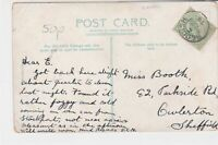 great britain 1906 reddish cancel whitworth park manchester stamps card ref21356