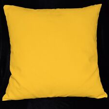la06a Yellow High Quality Cotton Canvas Fabric Cushion/Pillow Cover Custom Size