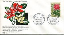 FRANCE FDC - 445 1356 1 FLEUR ROSES DE FRANCE ORLEANS 8 9 1962