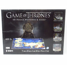 Game Of Thrones Westeros & Essos Map 4D Puzzle w/ Mini Winterfell & City Models