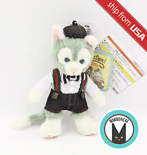 Japan Tokyo Disney Sea Painter Gelatoni Plush Keychain Charm mascot Duffy Cat