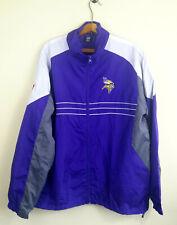 Minnesota Vikings Reebok Jacket Blue Full Zip Mens Size: L